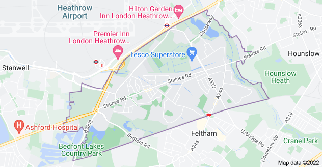 Map of Feltham TW14