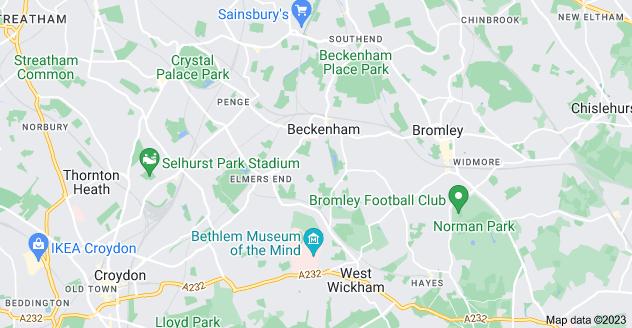Map of Beckenham