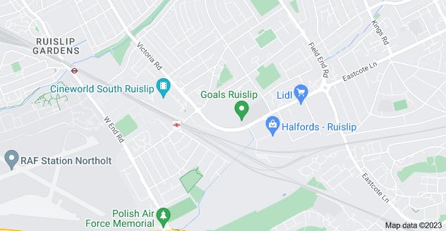 Map of South Ruislip, Ruislip HA4 0HN
