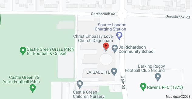 Map of Castle Green, Gale St, Dagenham RM9 4UN