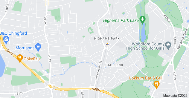 Map of Highams Park, London E4 9LR