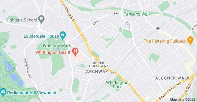 Map of Archway, London N19 3UL
