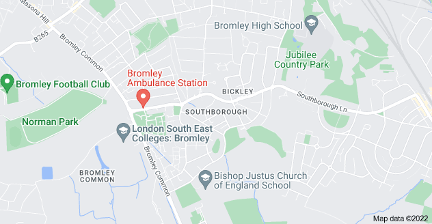 Map of Southborough, Bromley BR2 8EW