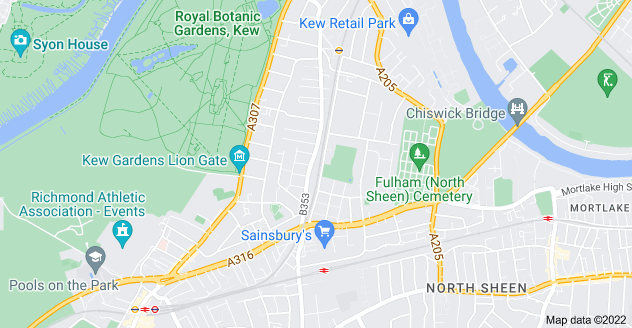 Map of North Sheen, Richmond TW9 2ER