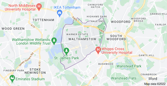 Map of Walthamstow, London