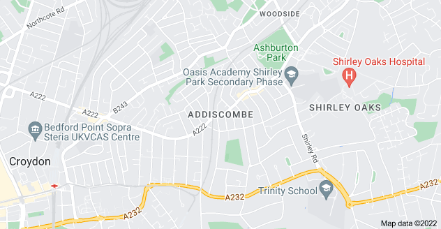 Map of Addiscombe, Croydon CR0 6RD