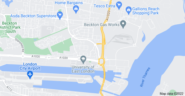 Map of Beckton, London E6 6FS