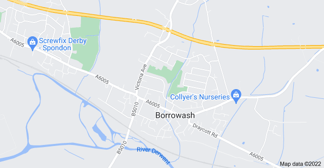 Map of Borrowash, Derby