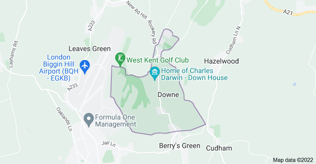 Map of Downe
