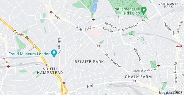 Map of Belsize Park, London NW3 4BU