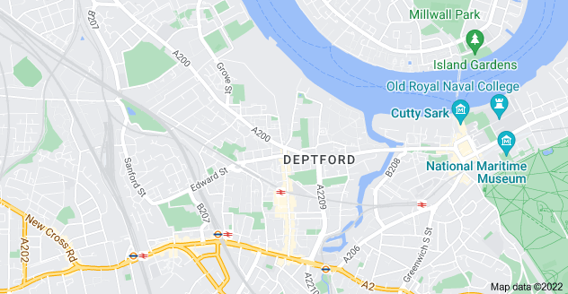 Map of Deptford, London SE8 3HR