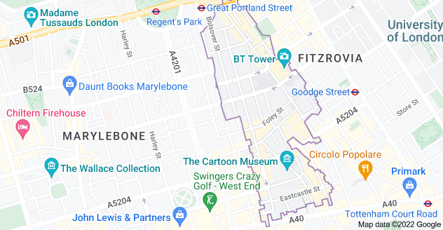 Map of London W1W