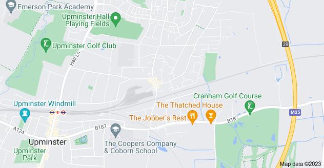 Map of Cranham, Upminster RM14 1EB
