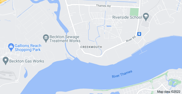 Map of Creekmouth, Barking IG11 0EL