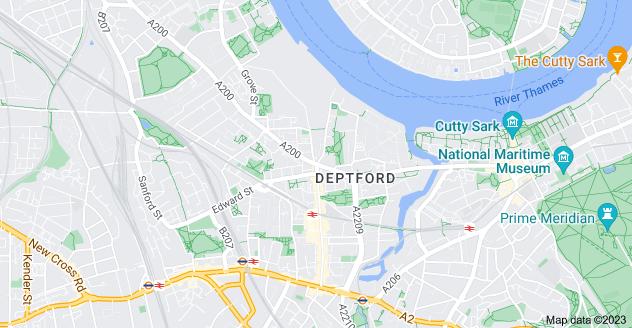 Map of Deptford, London SE8 3HR