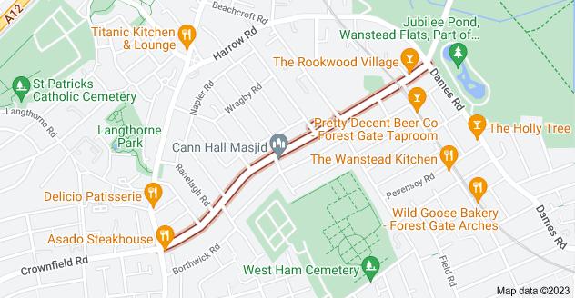 Map of Cann Hall Rd, London E11 3NL