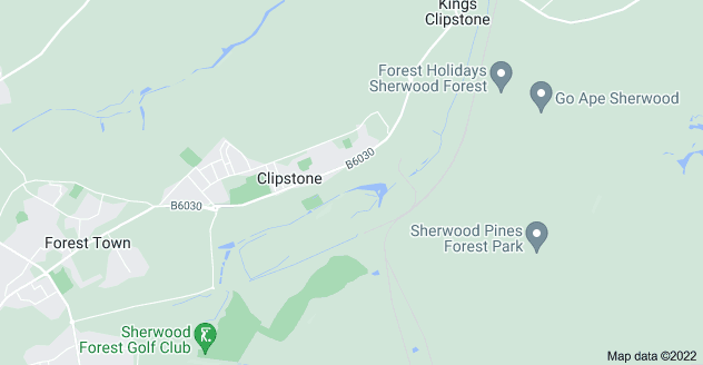 Map of Clipstone, Mansfield