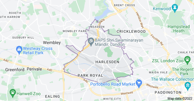 Map of London NW10