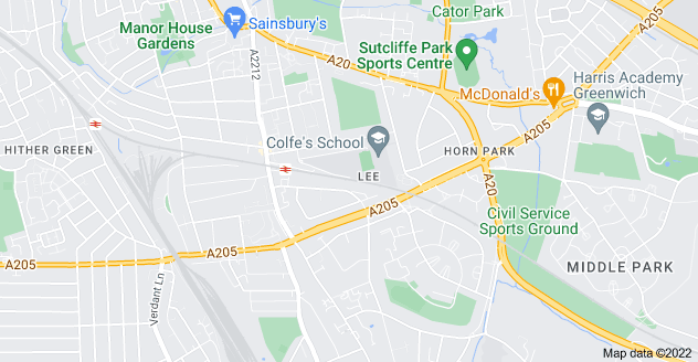 Map of Lee, London