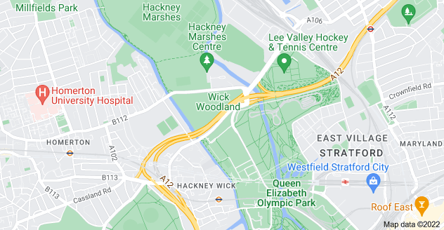 Map of Hackney Wick, London E9 5EF