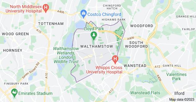 Map of Walthamstow, London