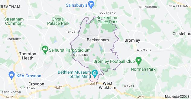 Map of Beckenham BR3