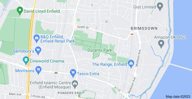 Map of Enfield Highway, Enfield EN3 7TW