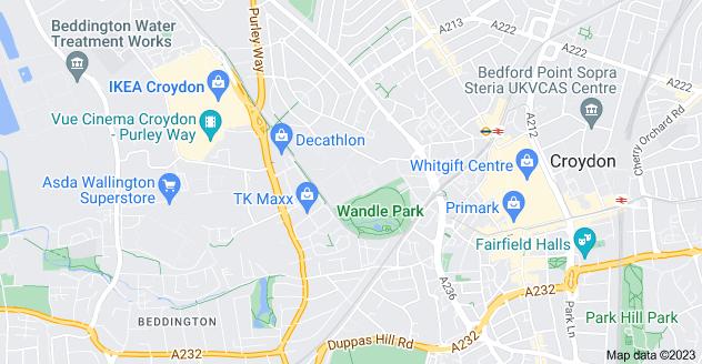 Map of Waddon, Croydon CR0 3RL