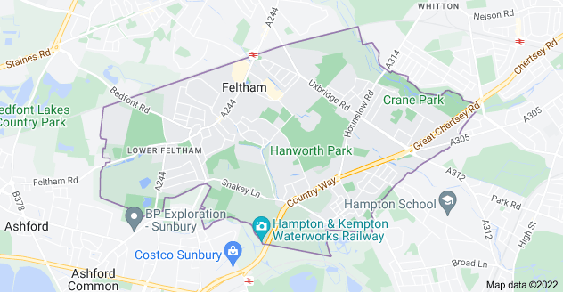 Map of Feltham TW13