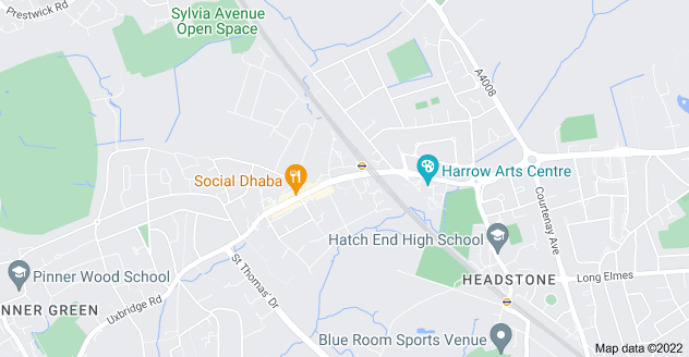 Map of Hatch End, Pinner HA5 4LB