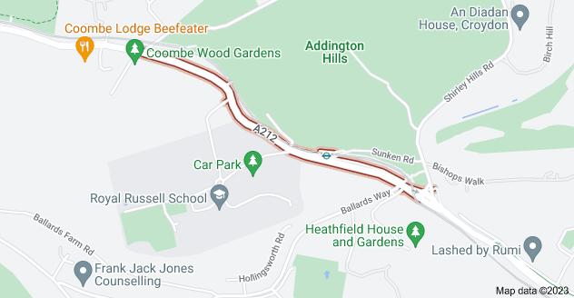 Map of Coombe Ln, Croydon CR0 5RF