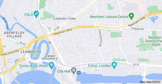 Map of Canning Town, London E16 1PJ