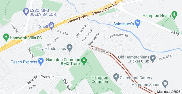Map of Hanworth Rd, Feltham TW13