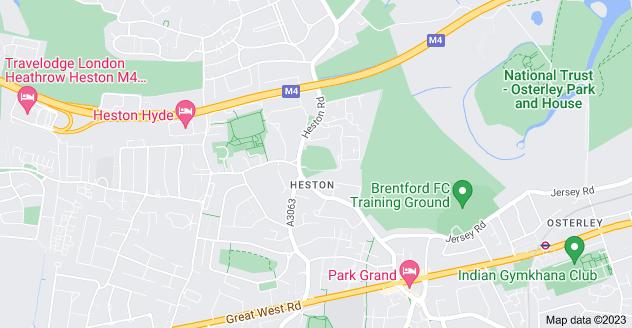 Map of Heston, Hounslow TW5 0RD