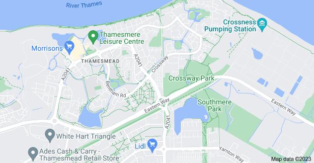 Map of Thamesmead, London SE28 8BB