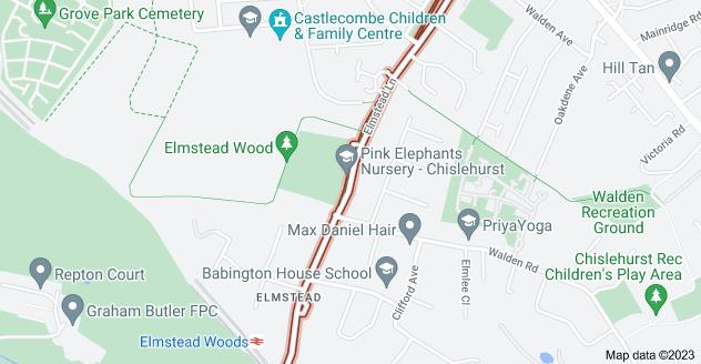 Map of Elmstead Ln, Chislehurst BR7 5EL