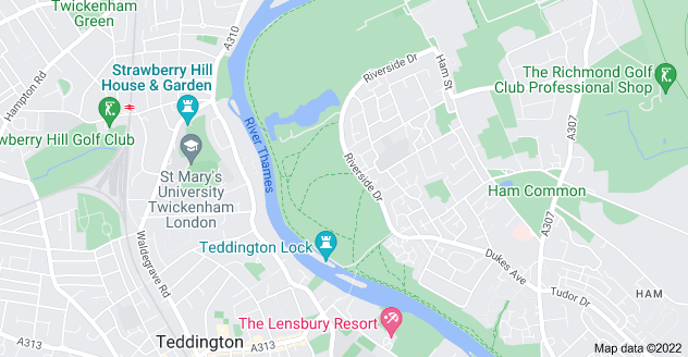 Map of Ham, Richmond TW10 7NB