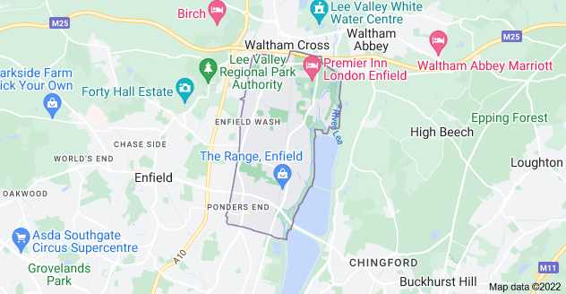 Map of Enfield EN3