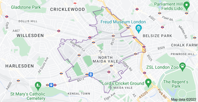 Map of London NW6