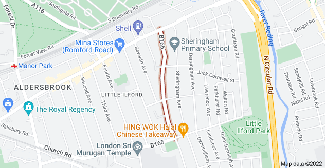 Map of Little Ilford Ln, London E12 5PN