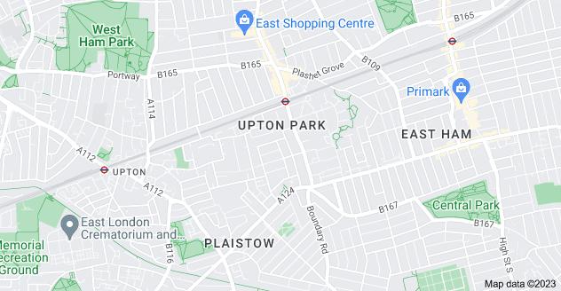 Map of Upton Park, London E13 9BU