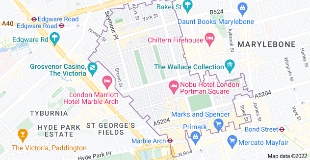 Map of London W1H